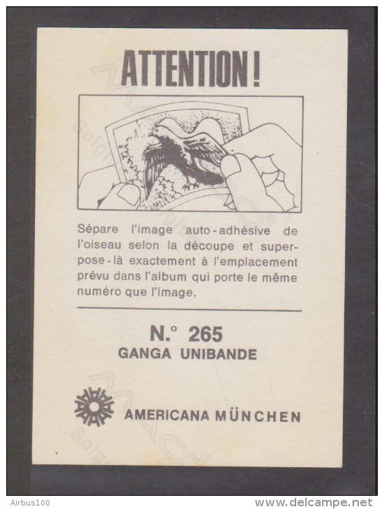 AMERICANA MUNCHEN VIGNETTE ADHÉSIVE AUTO COLLANT N° 265 GANGA UNIBANDE - 2 Scans - - Stickers