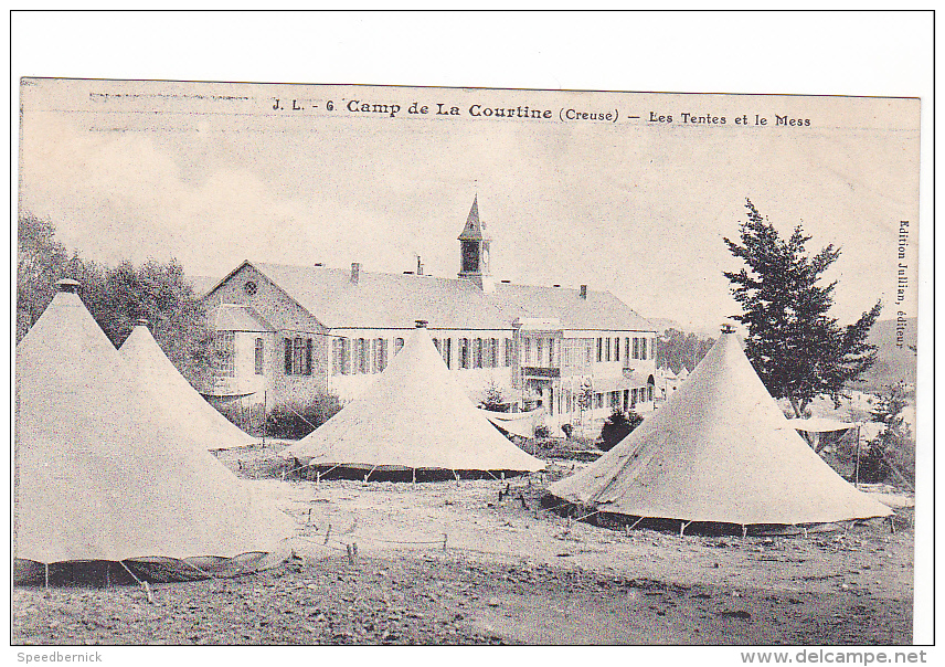 24991 Camp De La Courtine, Creuse France -Tentes Et Mess -JL Jullian  6 - Régiments