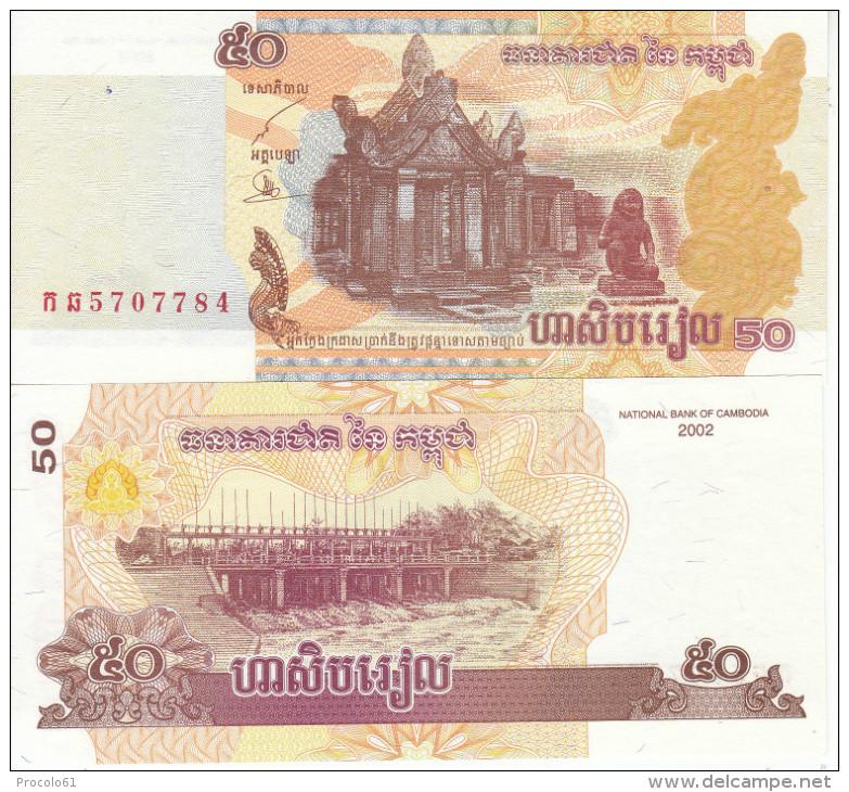 CAMBOGIA CAMBODIA KAMPUCHEA 50 RIELS 2002 FDS UNC - Cambodia