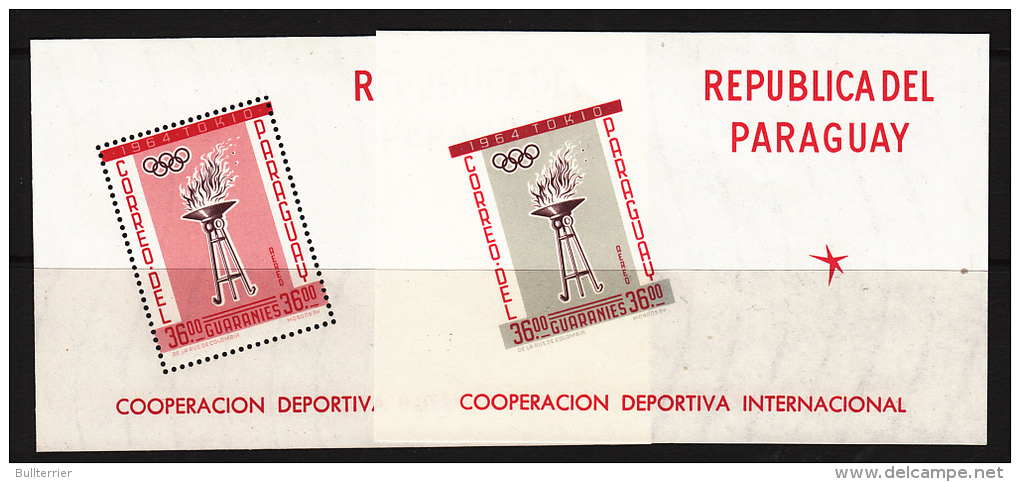 PARAGUAY - 1962- OLYMPICS SOUVENIR SHEETS PERF & IMPERFORATE  MINT NEVER HINGED,CAT 2005 = 155 EUROS - Summer 1964: Tokyo