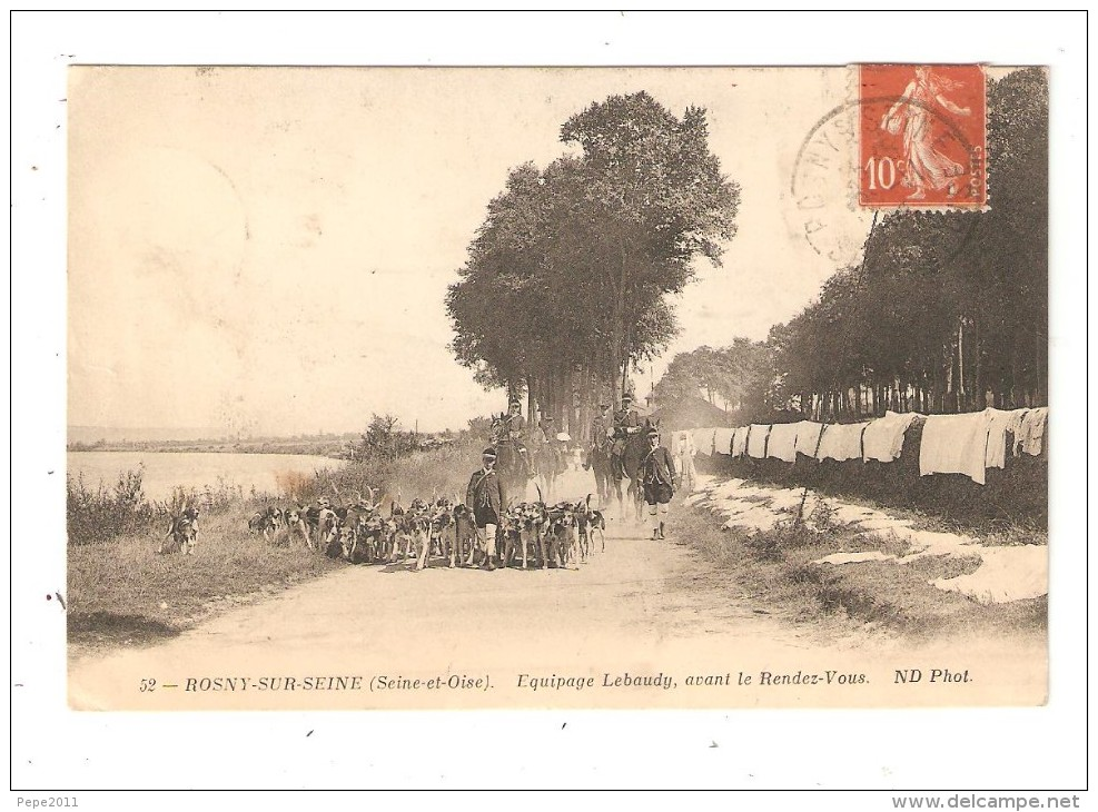 CPA 78 78 - ROSNY SUR SEINE - Equipage Lebaudy Avant Le Rendez Vous équipage Sur Un Chemin - Peu Commune - Rosny Sur Seine