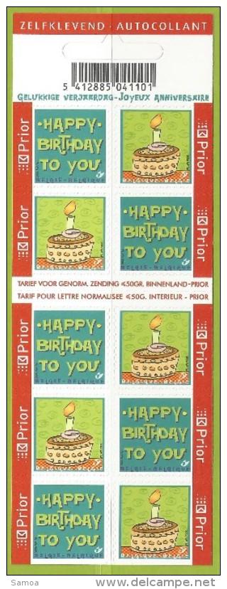 Belgique 2006 C 69 ** Happy Birthday Gelukkige Verjaardag Joyeux Anniversaire Gâteau Bougie Flamme - Celebrations
