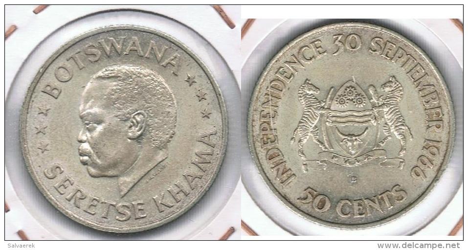 BOTSWANA 50 CENTS  1966 PLATA SILVER R - Botswana