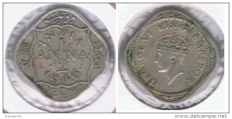 INDIA HALF ANNA 1946 R - India