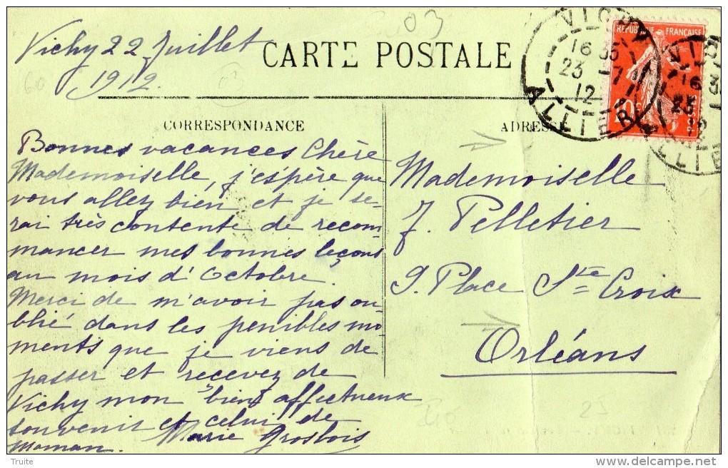 VICHY  LAVEUSES SUR L'ALLIER (THEME LAVANDIERE) - Vichy