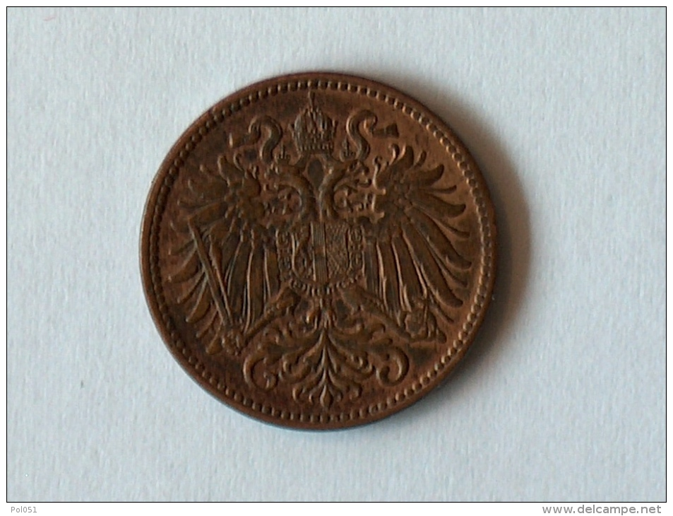 AUTRICHE 2 HELLER 1899 - Autriche