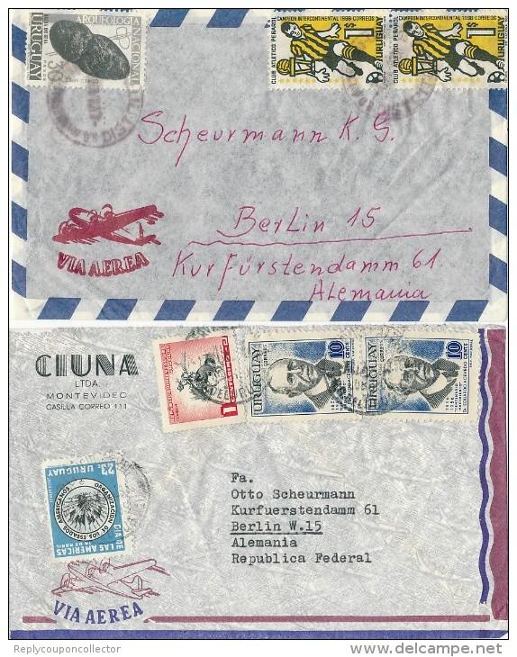 URUGUAY - 2 Briefe - Uruguay
