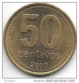 *argentina 50 Centavos 2010  Km 111.1   Xf+ - Argentine