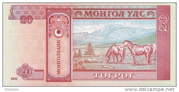 MONGOLIA P. 63b 20 T 2002 UNC - Mongolia