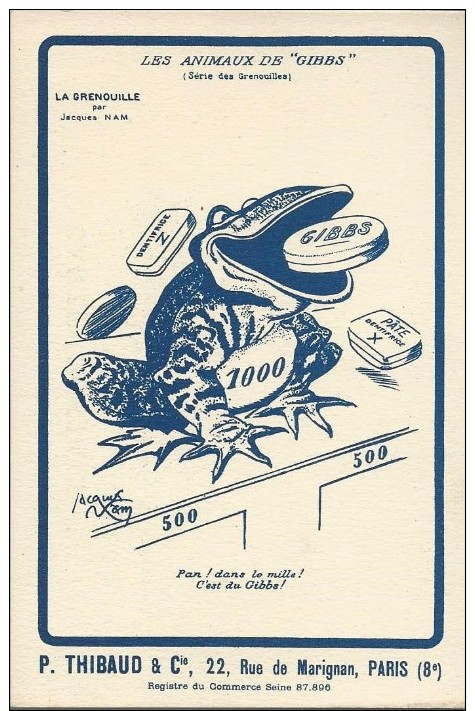 CPA - PUBLICITE -  LES ANIMAUX DE GIBBS - Advertising