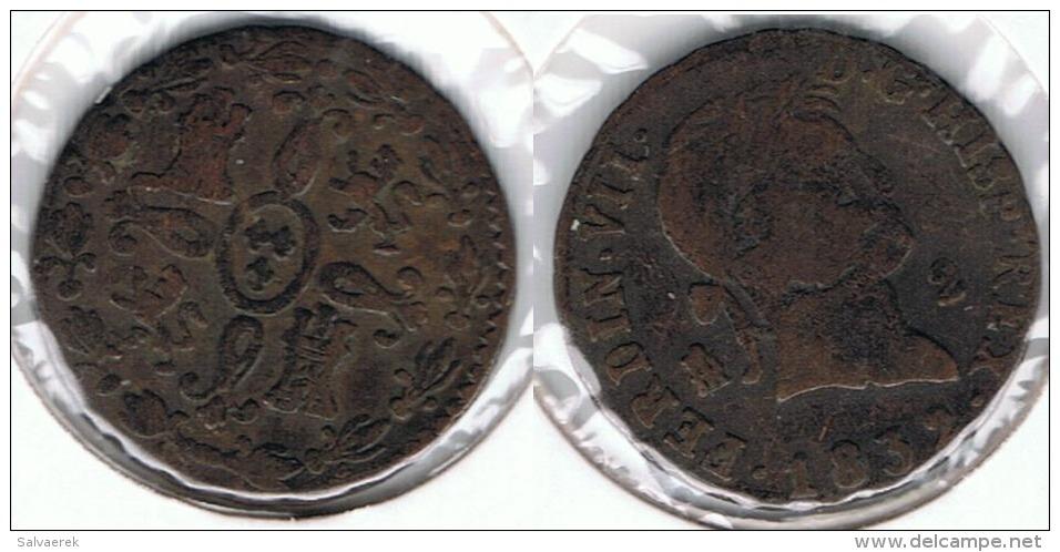 ESPAÑA FERNANDO VII 2  MARAVEDI SEGOVIA 1832 Q - [ 1] …-1931 : Reino