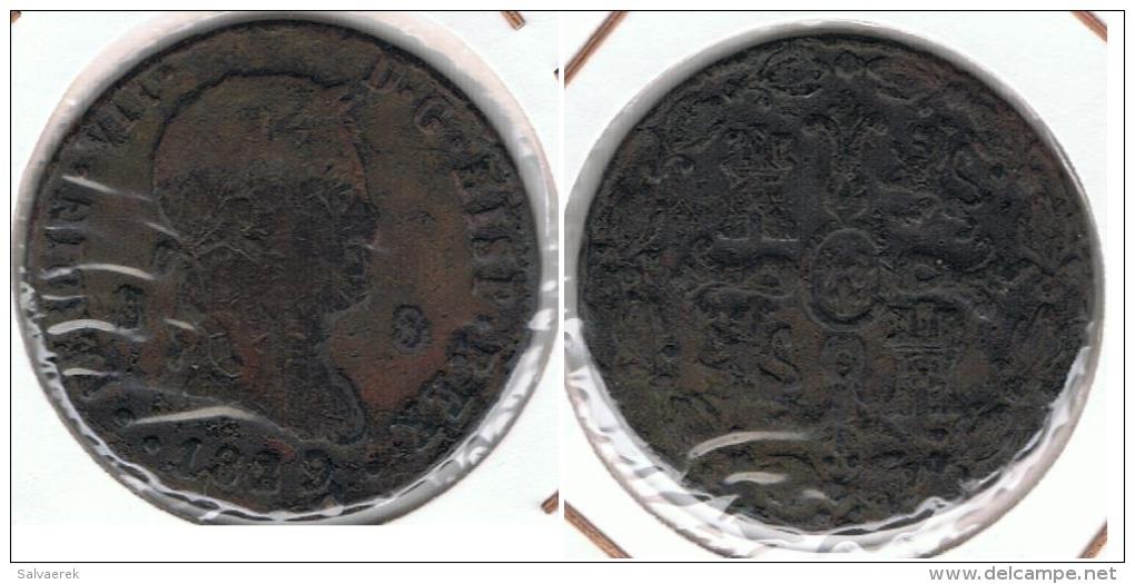 ESPAÑA FERNANDO VII 8  MARAVEDI SEGOVIA 1839 Q - [ 1] …-1931 : Reino