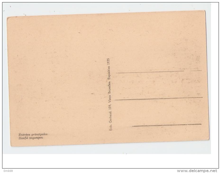 BELGIUM - EXPOSITION DE BRUXELLES 1935 - EDIT GERBAUD - Universal Exhibitions