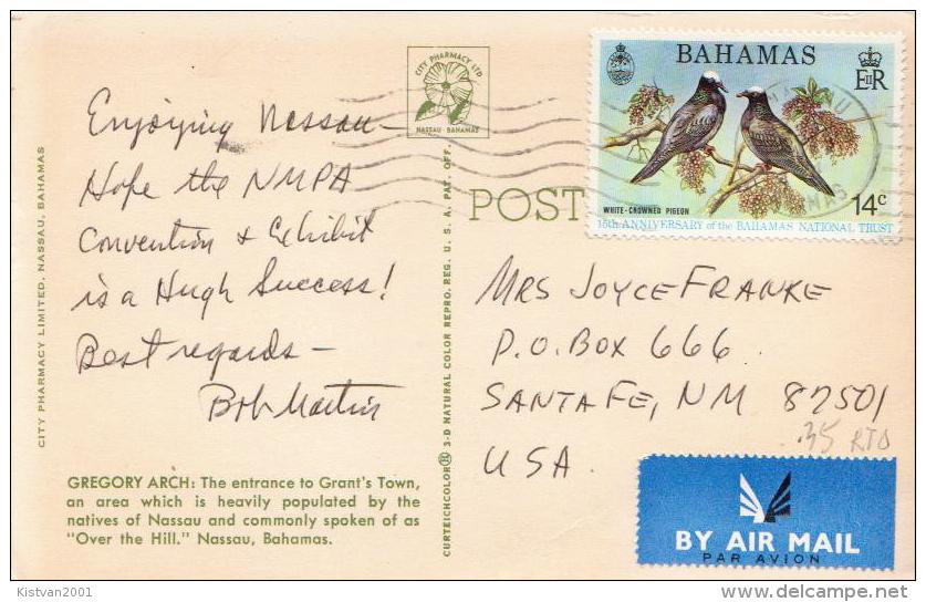 Postal History Cover: Bahamas Bird Stamp On Ppc - Birds