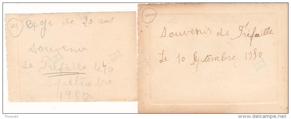 ¤¤  -  PREFAILLES  - 2 Clichés De Personnes Sur La Plage Et Les Rochers En 1930   -  Voir Description  -  ¤¤ - Préfailles