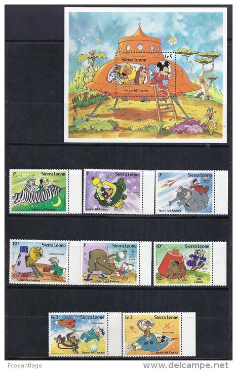 DISNEY -SIERRA LEONA 1983-  Yver#569/76 H18 Precio Cat€13.50 - Disney