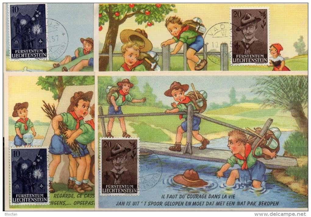 1000 Witze Sprüche Humor Mit 4x Humorkarte Pfadfinder Liechtenstein 360/1,FDC 1+2 O 61€ Fackelzug Scouts Maxicards Of FL - Libros Para Niños