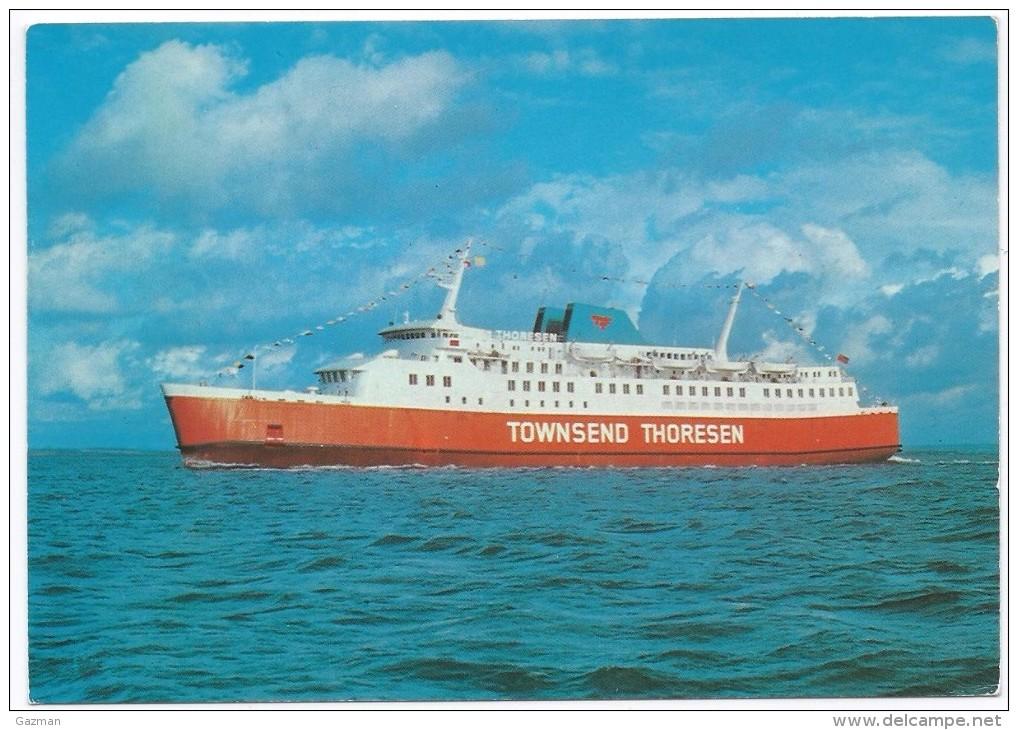 CLASS VIKING     -  TOWNSEND  THORESEN  -  CALAIS  DOVER  ZEEBRUGGE  .LE HAVRE . - Ferries