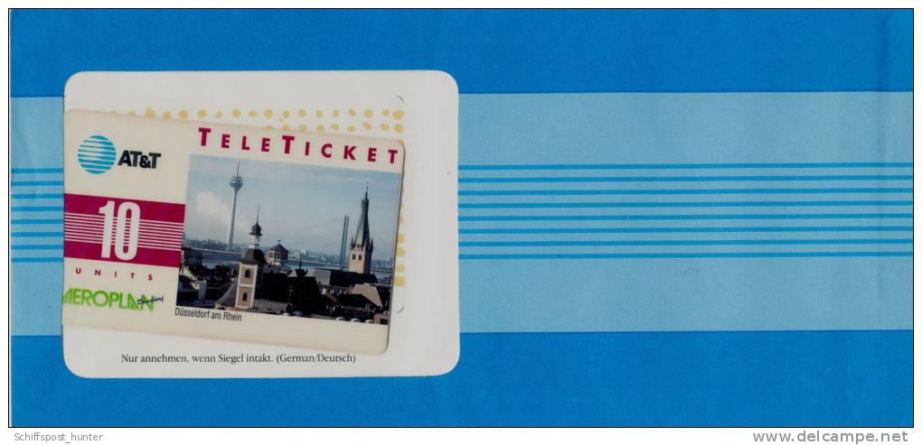 """AT & T, AEROPLAN, Calling Card,  """" Düsseldorf """", Ungebraucht - Schede Telefoniche"""