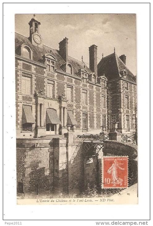 CPA 78 ROSNY-sur-SEINE - L´entrée Du Château Et Le Pont-levis - Rosny Sur Seine