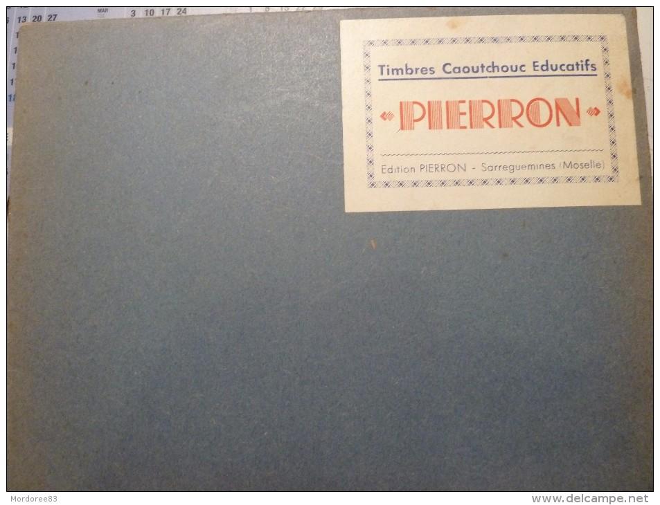 COFFRET 6 GRANDS TIMBRES CAOUTCHOUC EDUCATIFS PIERRON SARGUEMINES THEME LE PRINTEMPS TBE - Loisirs Créatifs