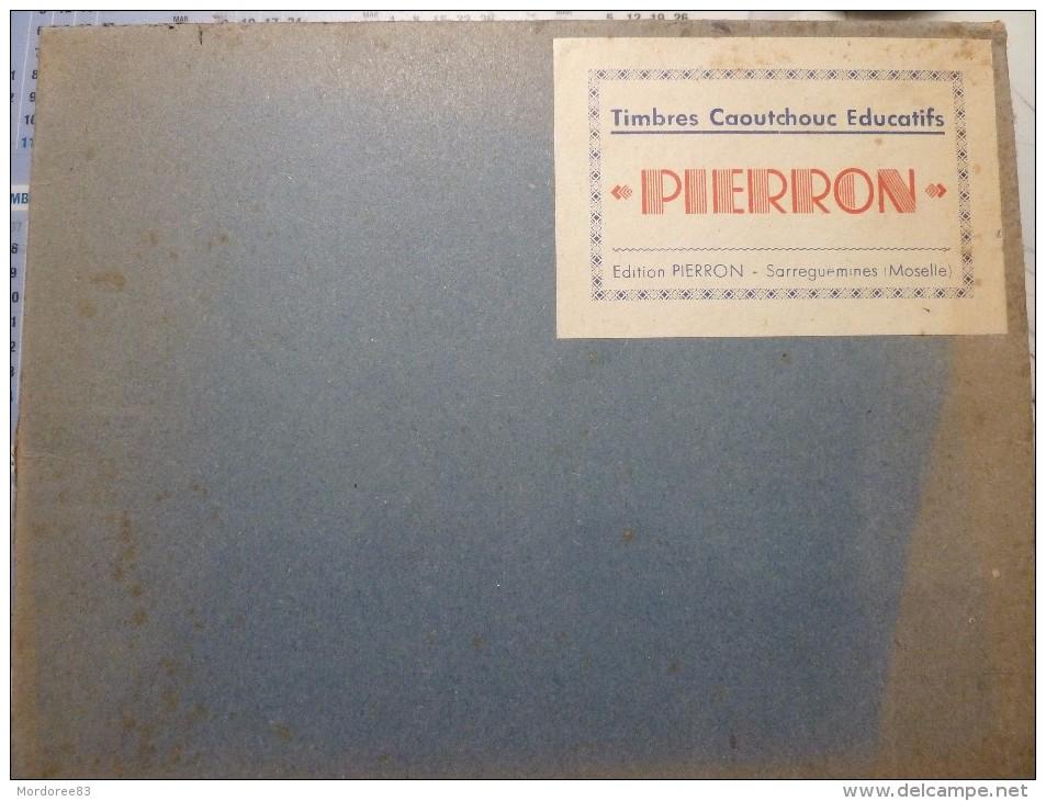 COFFRET 6 GRANDS TIMBRES CAOUTCHOUC EDUCATIFS PIERRON SARGUEMINES THEME LES SAISONS TBE - Loisirs Créatifs