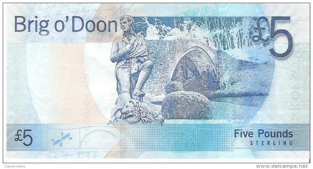 Scotland - Pick 124 - 5 Pounds 2007 - Unc ***LOW SERIAL*** RARE*** - [ 3] Scotland