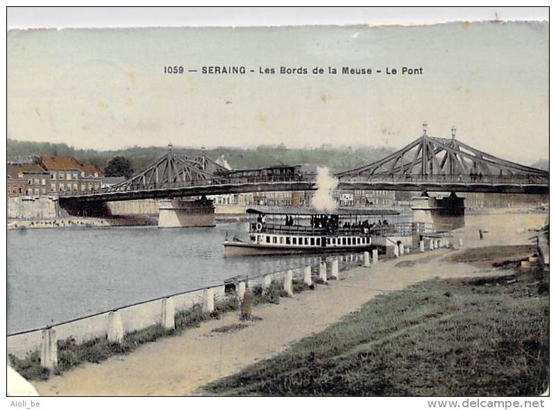 Seraing - Les Bords De La Meuse - Le Pont  - Circulé En 1908 - Seraing
