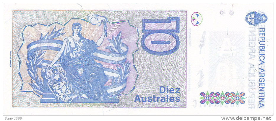 Argentina - 10 Diez Australes (FDC) - Argentine