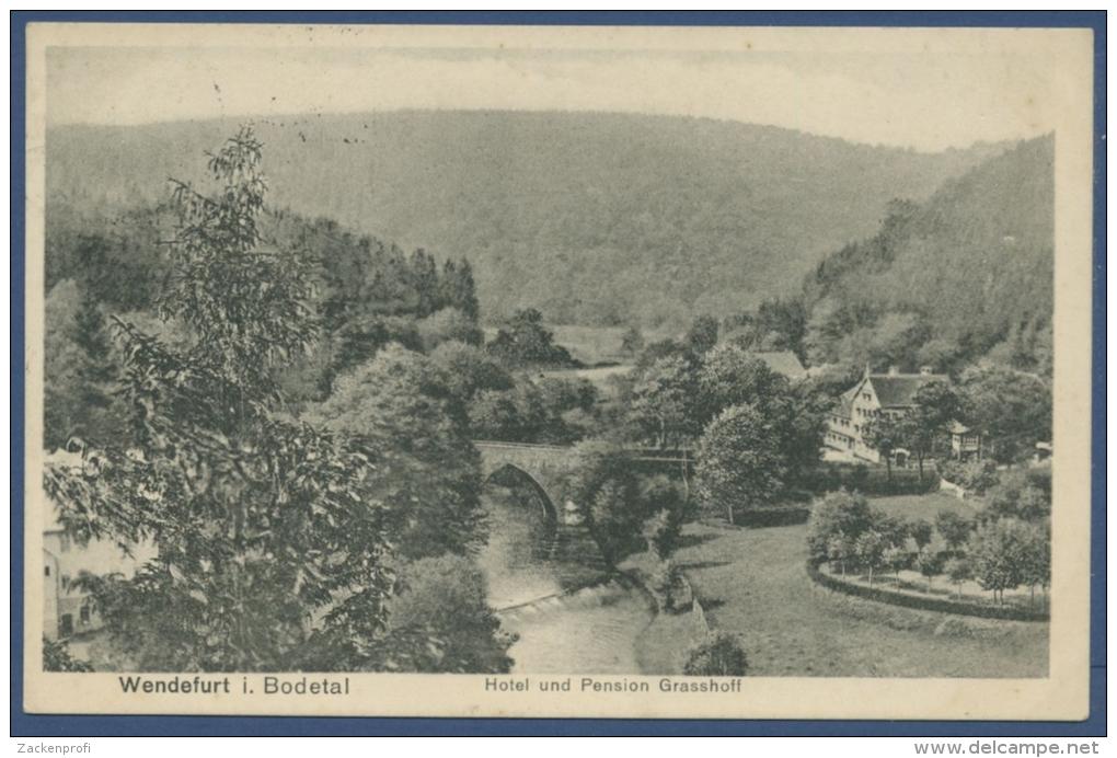 Wendefurt Im Bodetal Hotel U. Pension Grasshoff, Gelaufen 1916 (AK851) - Blankenburg