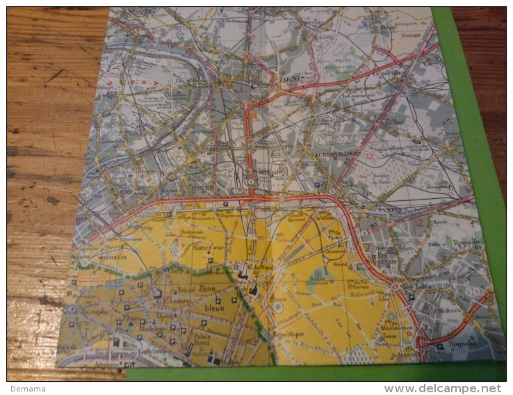 Sorties De Paris, N° 100, Michelin Carte à 1/50000 - Callejero