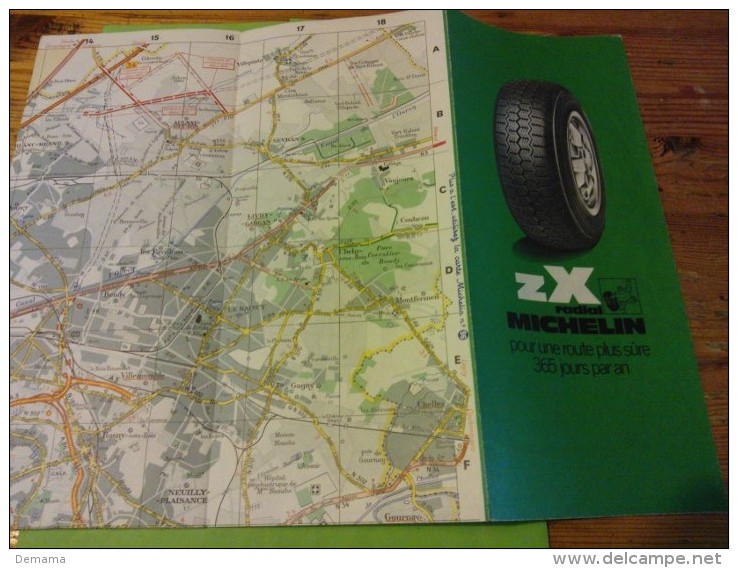 Sorties De Paris, N° 100, Michelin Carte à 1/50000 - Strassenkarten