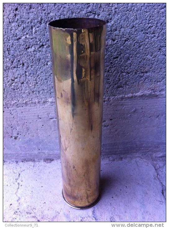 Douilles D'obus De 75  Neutralisée Ww1 - Armes Neutralisées