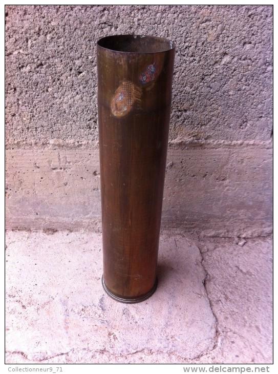 Douilles D´obus De 75  Neutralisée Ww1 - Armes Neutralisées