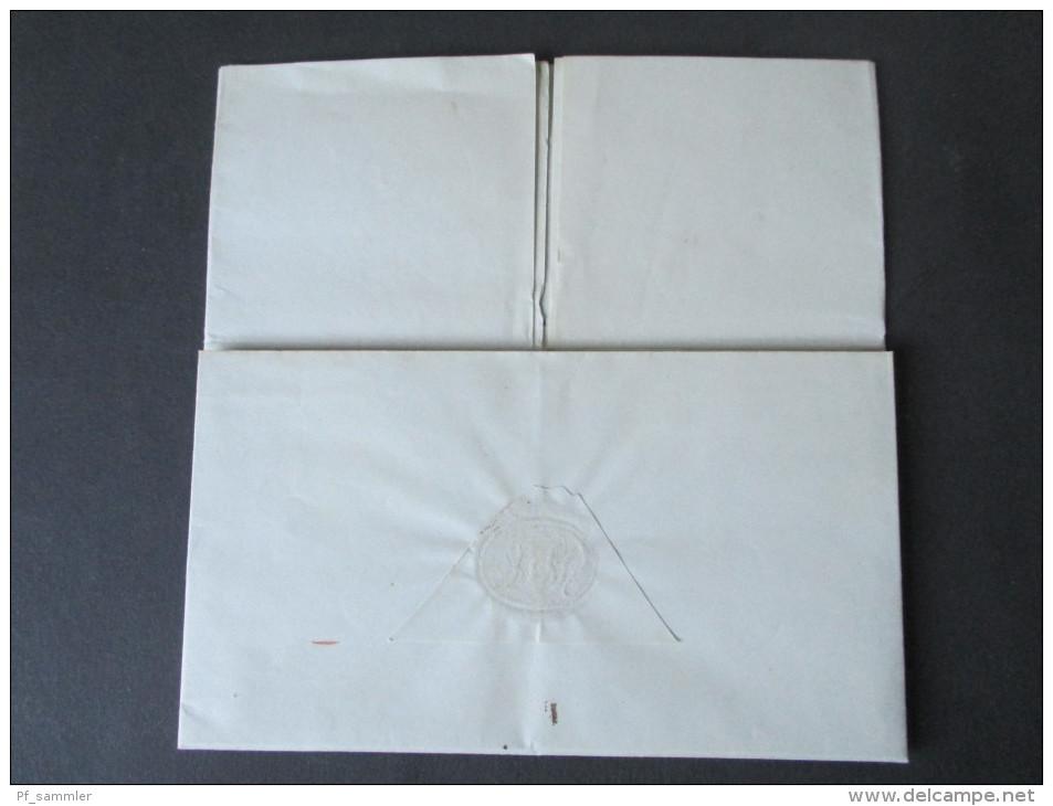 Vorphila Rozendaal 17. Aug. 1839 Hollande Par Anvers. Taxvermerk. Van Den Bosch. Geschäftsbrief / Rechnung?! - Niederlande
