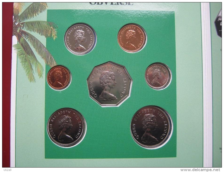 Tuvalu 1985 BUNC 7 Coin Set 1 Cent - 1 Dollar Royal Mint Folder - Tuvalu