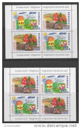 Europa Cept 2006 Romania 2  M/s ** Mnh (25710) - Europa-CEPT