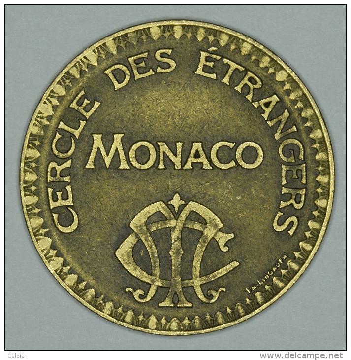 """Monaco Jeton Token 10 FRANCS - ST DES BAINS DE MER - """""""" CERCLE Des ÉTRANGERS """""""" # 2 - Monaco"""