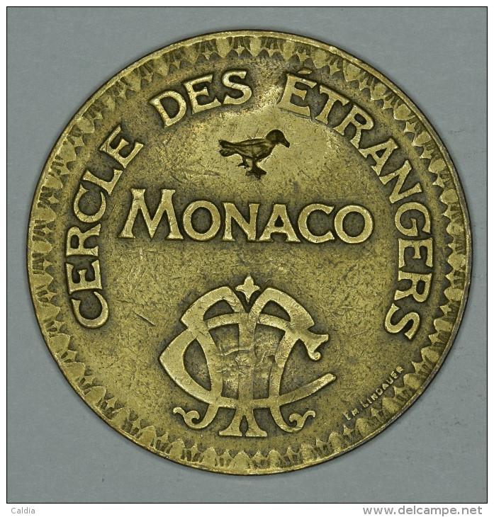 """Monaco Jeton Token 10 FRANCS Tir Aux Pigeons - ST DES BAINS DE MER - """""""" CERCLE Des ÉTRANGERS """""""" # 2 - Autres"""