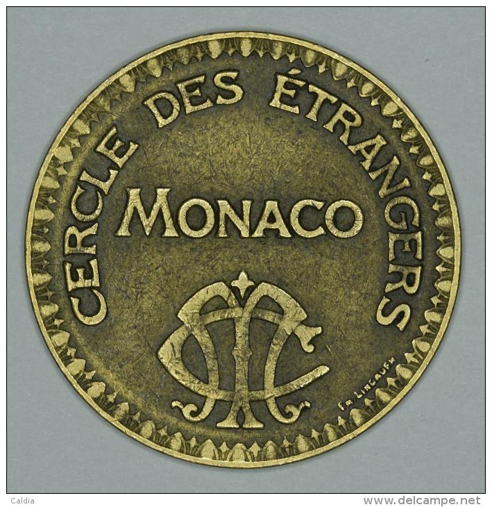 """Monaco Jeton Token 10 FRANCS - ST DES BAINS DE MER - """""""" CERCLE Des ÉTRANGERS """""""" # 3 - Monaco"""