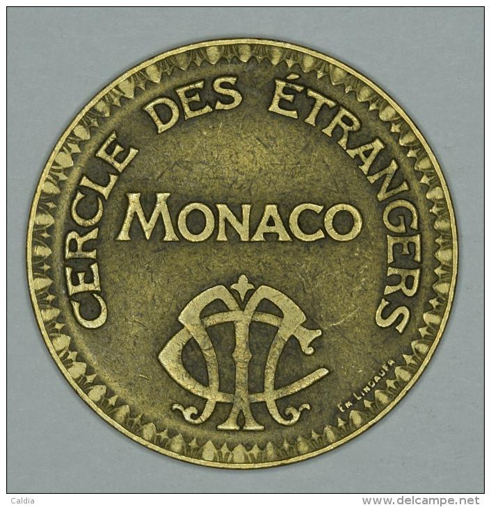 """Monaco Jeton Token 10 FRANCS - ST DES BAINS DE MER - """""""" CERCLE Des ÉTRANGERS """""""" # 4 - Monaco"""