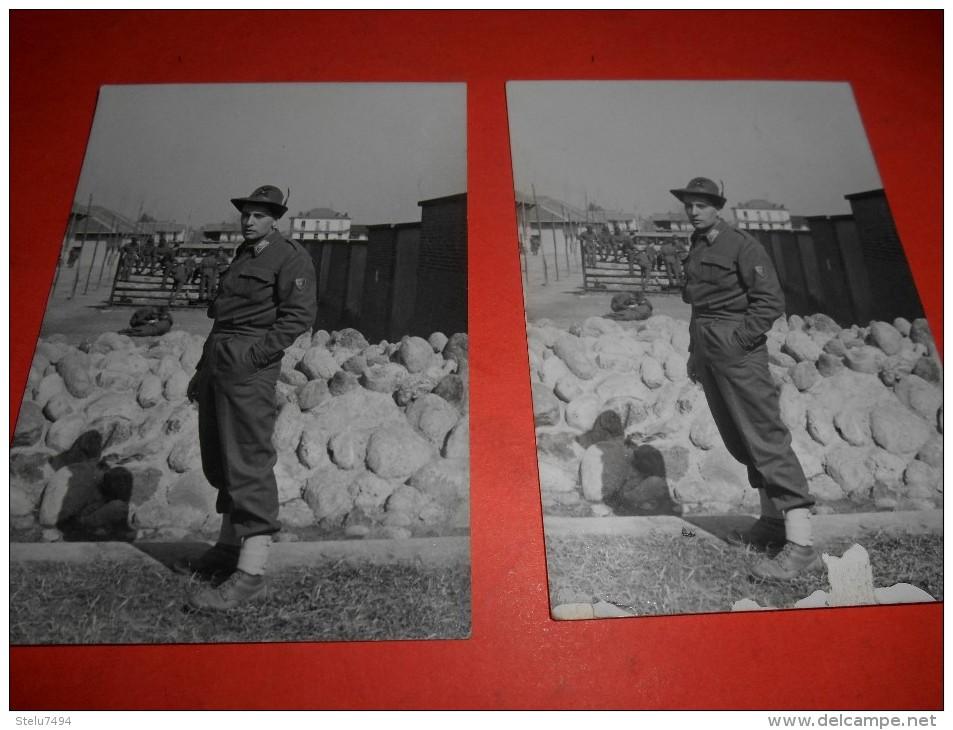 B621 2 Foto Militari Rivoli Cm10x7 Di Cui Uno Con Screpolatura Parte Inf. - Non Classificati