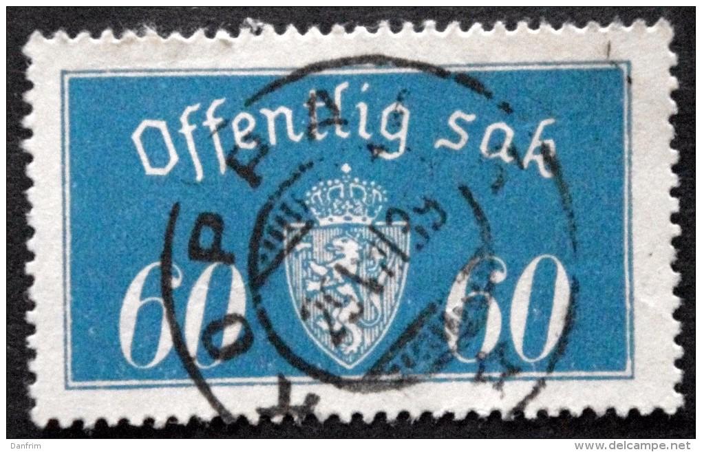 Norway 1935  Minr.19  II   34mm X18,5mm  KOPPANG-29-7-1939  ( Lot C 153 ) - Service
