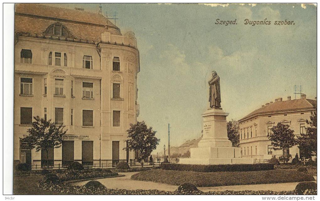 CPA (hongrie )   SZEGED  Dugonics Szobor - Hungary