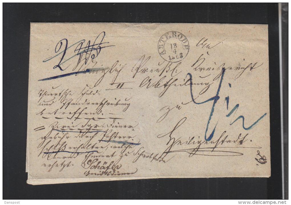 Falthülle Abterode 1863 - Preussen (Prussia)