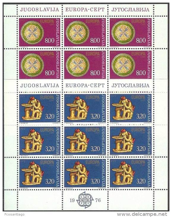 EUROPA CEPT. YUGOSLAVIA 1976.  PRECIO€7.50 - 1976