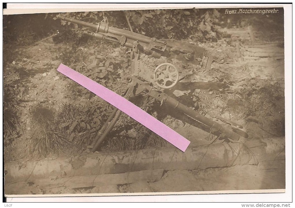 Mitailleuse St étienne Capturée Par Les Allemands Carte Photo Poilus Tranchées 1914-1918 14-18 Ww1 WWI 1.wk - War, Military