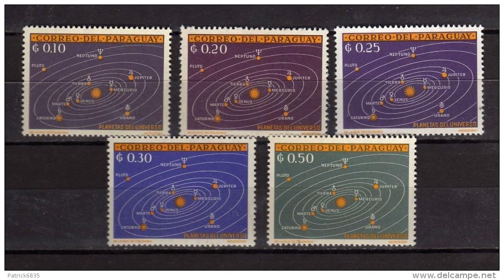 Paraguay **- 1962 - Planètes De L´Univers.  Yvert. 699à703 . MNH. NEUF.    Vedi Descrizione - Paraguay