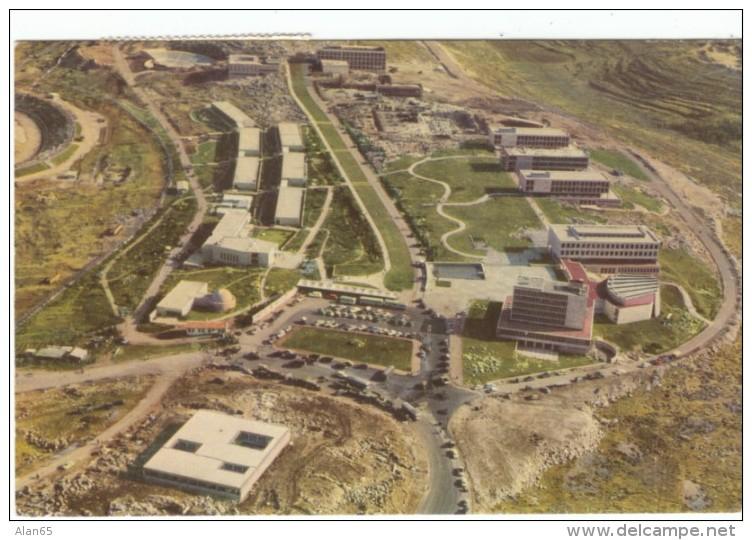 Jerulsalem Israel, Hebrew University Campus Aerial View, C1950s Vintage Postcard - Israel