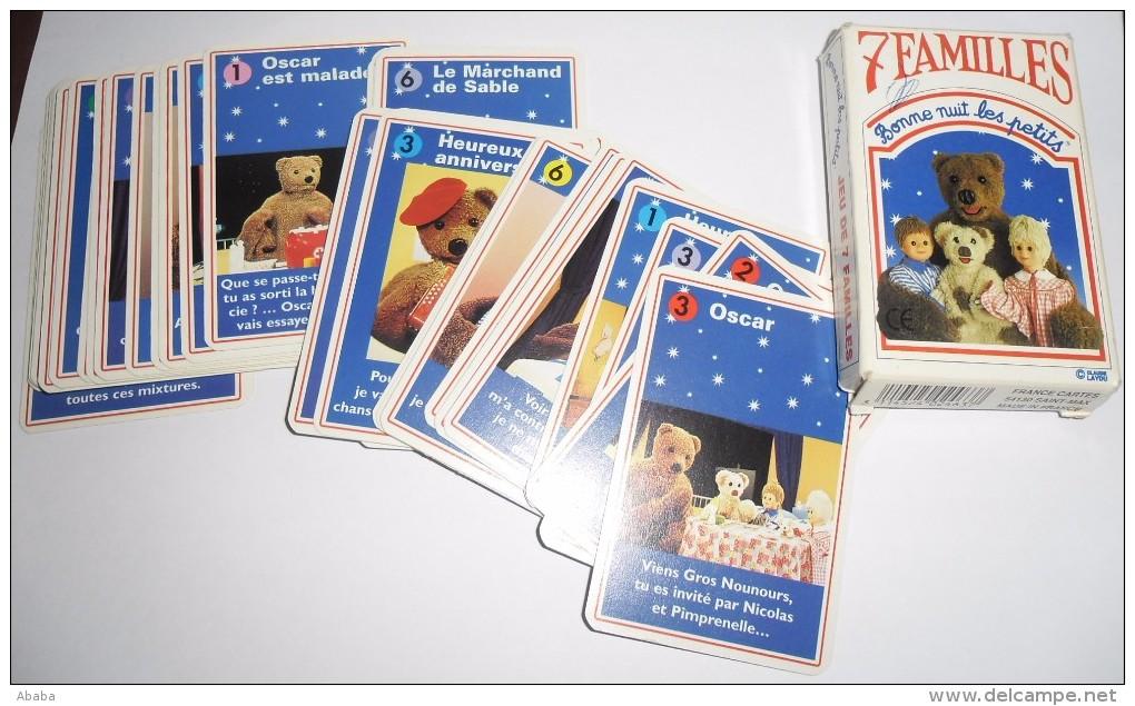 JEU DE CARTES DES 7 FAMILLES BONNE NUIT LES PETITS - Cartes à Jouer